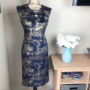 Blue and Gold Philosophy Scuba Dress size S NWT